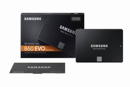 历史新低!Samsung 三星 860 Evo系列 2.5寸 SATA III 500GB 大容量 固态硬盘4.3折 94.99加元包邮!