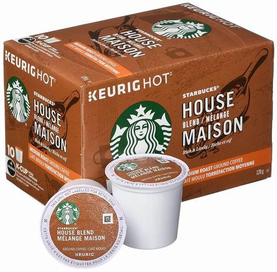 历史新低!Starbucks 星巴克 House Blend K-Cup 首选咖啡胶囊60粒6.7折 45.43加元包邮!