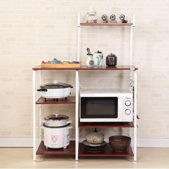 DlandHome 35.4英寸 四层式 厨房收纳桌 57.75加元限量特卖并包邮!2色可选!