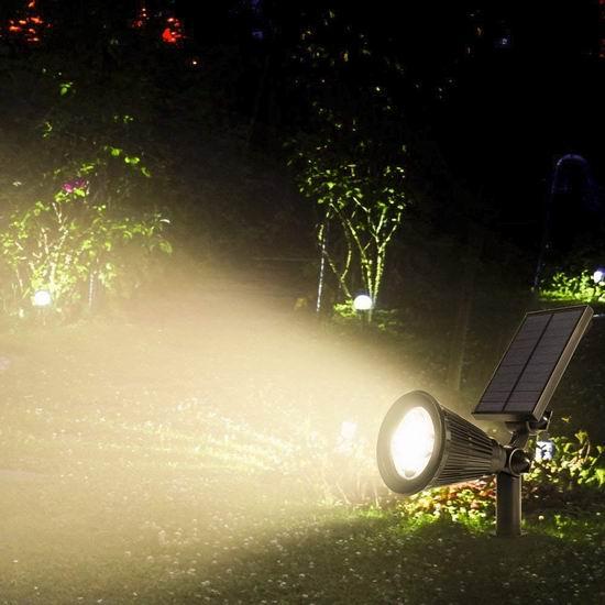 ALOVECO 4 LED 太阳能庭院射灯2件套3.3折 22.08-22.94加元限量特卖并包邮!2色可选!