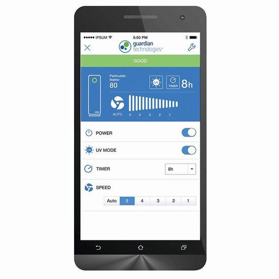 历史新低!GermGuardian CDAP5500BCA WiFi 四合一 HEPA 智能空气净化器6折 152.98加元包邮!