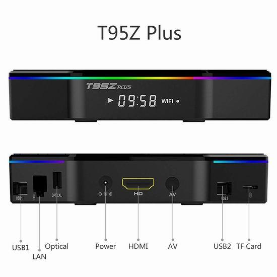 YAGALA T95Z Plus 4K超高清 双频 网络电视机顶盒(3GB/32GB) 81.51加元限量特卖并包邮!