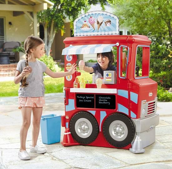 手慢无!历史新低!Little Tikes 小泰克 二合一 儿童厨房+餐车组合3.8折 79.97加元清仓并包邮!