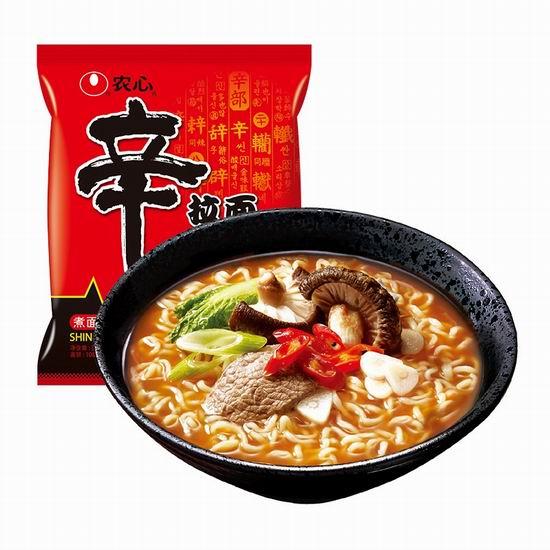 历史新低!Nongshim 韩国农心方便面(4包)5.4折 3.47加元!