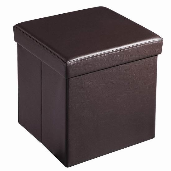 Soges 可折叠人造革脚踏凳 16-24加元限量特卖!3色可选!另有大号收纳凳41.65加元起!