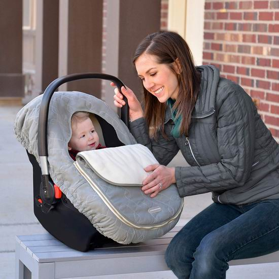 JJ Cole Baby 灰色婴儿提篮保暖罩 29.99加元!2色可选!