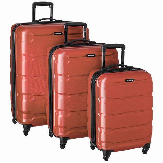 折扣升级!Samsonite 新秀丽 Omni PC 轻质硬壳 拉杆行李箱3件套 252.51加元包邮!2色可选!