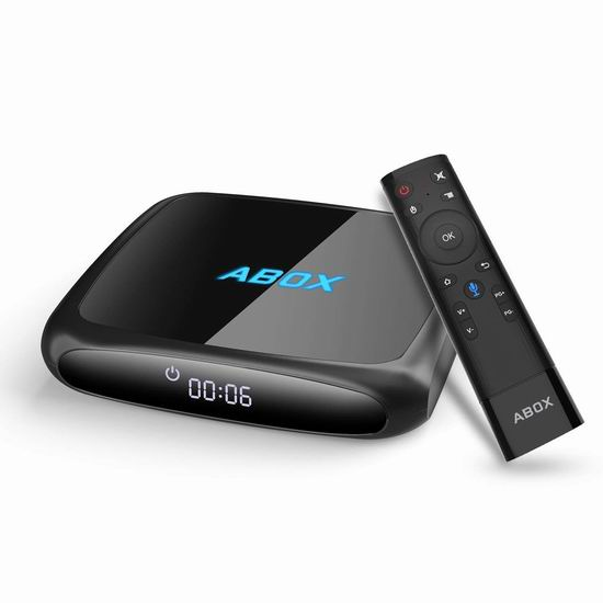 GooBang Doo ABOX A4 语音控制 智能网络电视机顶盒(2GB/16GB) 67.99加元限量特卖并包邮!