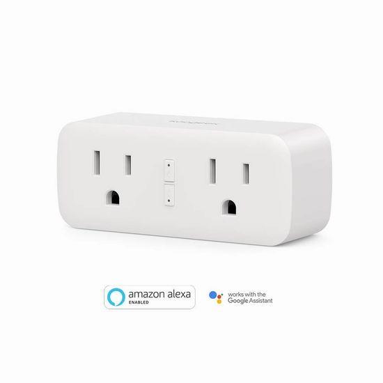 历史新低!Koogeek 二合一 WiFi智能插座 23.99加元!