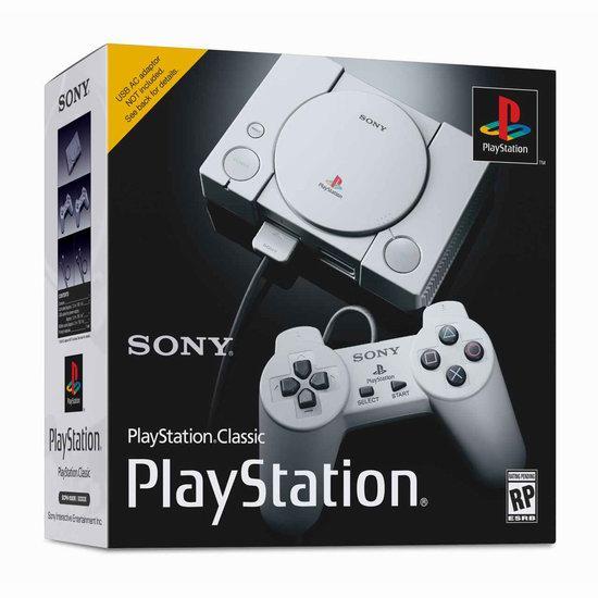 新品预售 PlayStation Classic 怀旧版 微型游戏机 129.96加元包邮!