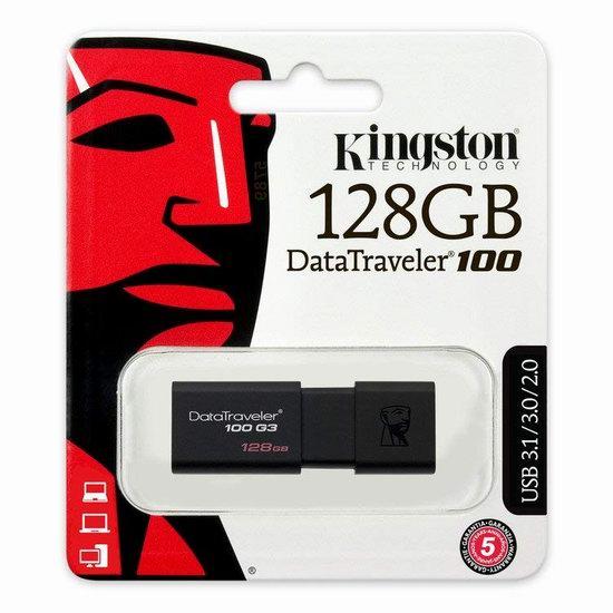 历史新低!Kingston Digital 金士顿 128GB 100 G3 USB 3.0 闪存盘/U盘 29.75加元!