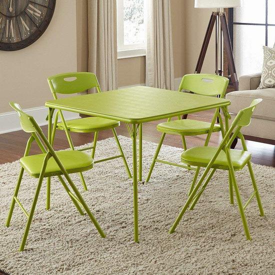 历史新低!Cosco 苹果绿 可折叠桌椅5件套6.3折 109.99加元包邮!