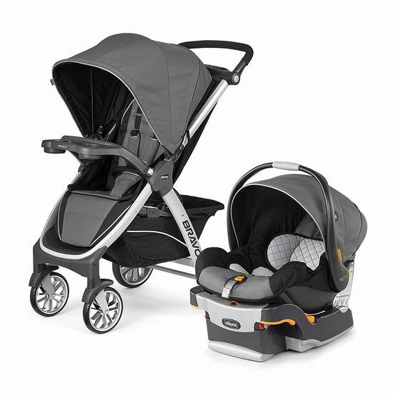 历史最低价!Chicco 智高 Bravo Trio 婴儿推车+安全提篮 旅行套装6.2折 399.99加元包邮!美亚同款超高好评!