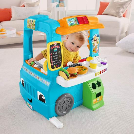 Fisher-Price 费雪 Laugh & Learn Servin up 儿童玩具餐车5.1折 50.95加元包邮!