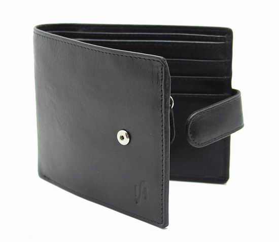 StarHide RFID防盗 黑色真皮钱包3.6折 12.75加元限量特卖并包邮!