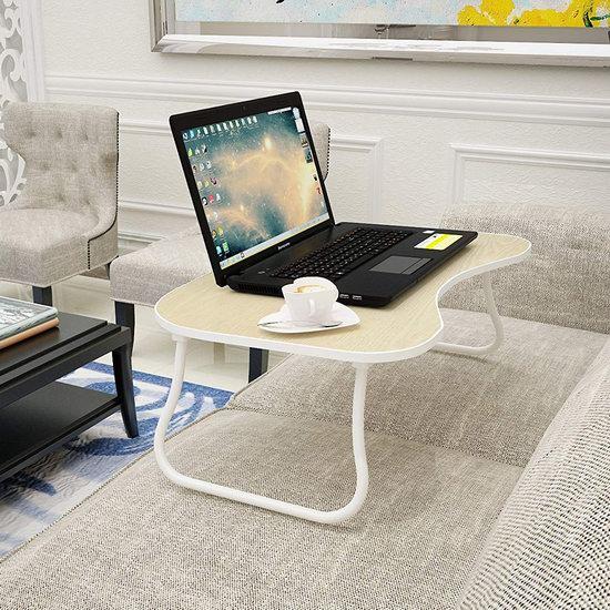 Homebi 可折叠笔记本电脑桌/床上托架/早餐桌4.8折 13.59加元限量特卖!