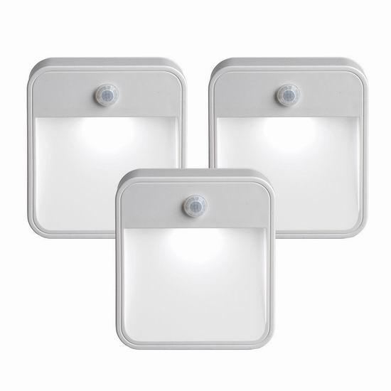 Mr. Beams MB723 室内/室外 运动感应LED夜灯3件套4.5折 24.8加元!