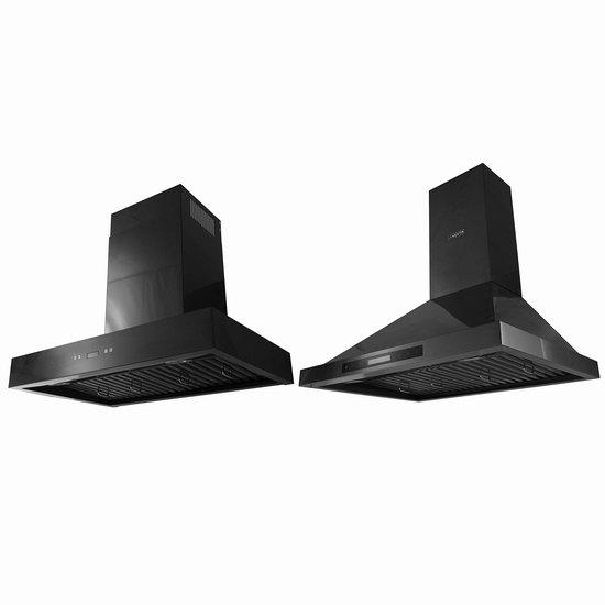 独家:VESTA 900CFM 黑色不锈钢 4速超强吸力 壁挂式抽油烟机 569.98加元!两款可选!