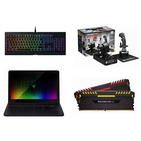 金盒头条:精选 Razer、Corsair、Toshiba 等品牌游戏笔记本电脑、游戏鼠标、键盘、飞行游戏摇杆、游戏耳机、内存、硬盘等5.2折起!
