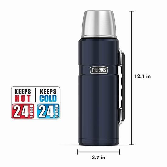 历史最低价!Thermos 膳魔师 Stainless King 40盎司 大容量不锈钢保温杯4.4折 24.99加元!