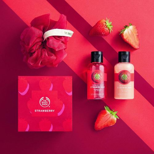 The Body Shop Strawberry沐浴露+身体乳礼品套装 8.48加元,原价 10加元