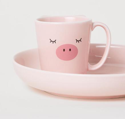 H&M 精选小清新居家用品、装饰品 4.99加元起特卖!入超级可爱粉色猪猪系列!