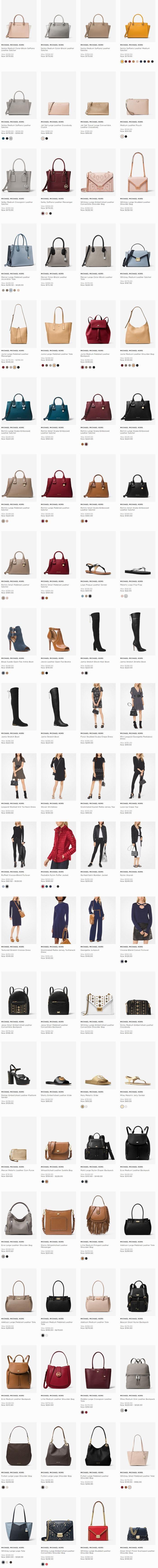 Michael Kors精选美包、美衣、美鞋、首饰等5折起优惠!
