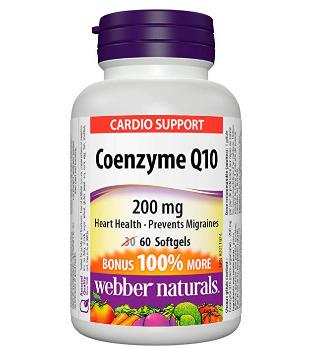 Webber Naturals 伟博天然 辅酶Q10高效抗氧化软胶囊 60粒 13.84加元,原价 20.97加元