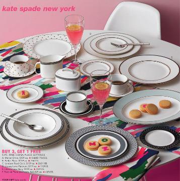 Kate Spade高颜值 精美餐具、水杯、厨房用品 7.5折优惠!