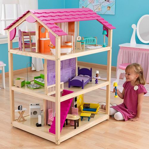 KidKraft So Chic带家具的三层娃娃屋 249.99加元,原价 338.69加元,包邮