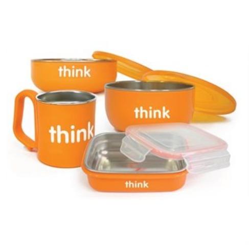 Thinkbaby Feeding不锈钢儿童餐具套装 42加元,原价 59.95加元,包邮