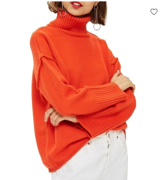 Topshop高领毛衣、开衫 29.99加元起特卖!多色可选!
