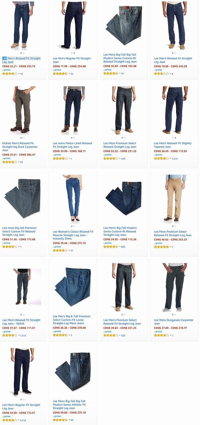 被誉为世界三大牛仔裤品牌之一!精选 LEE 经典款牛仔裤 17.99加元起特卖!