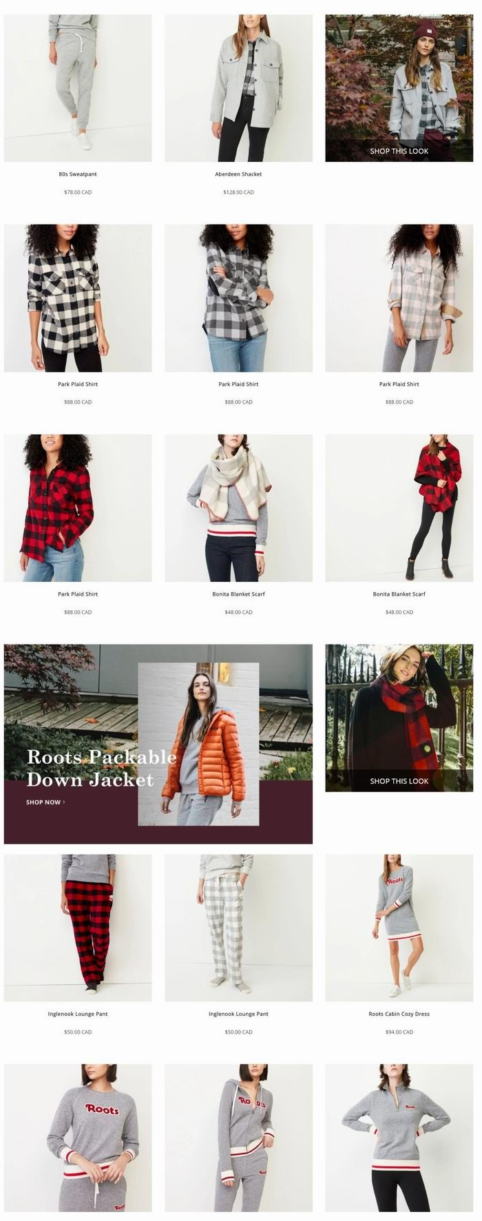Roots全场新款服饰、鞋靴、皮包7.5折优惠,特卖区4折起+额外7.5折!