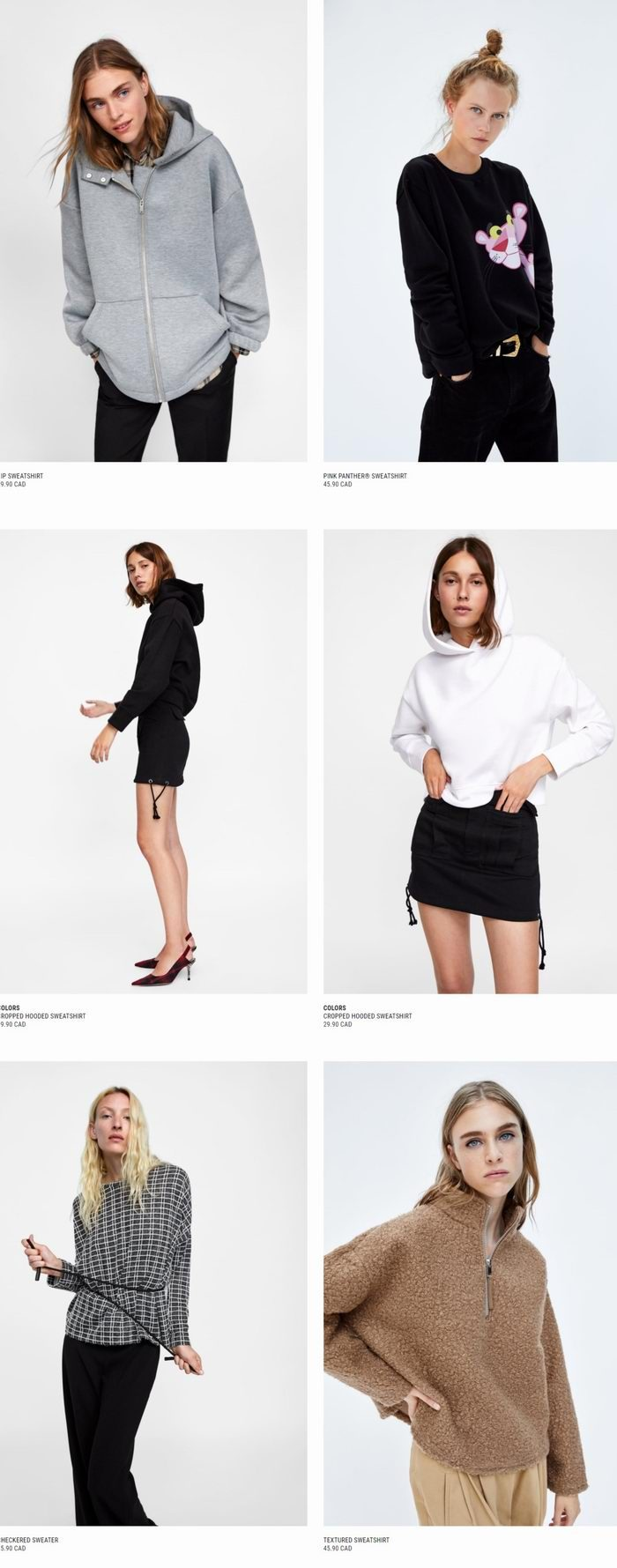 Zara大量新款时尚夹克、毛衣、美包、大衣、美鞋 29.99加元起特卖!
