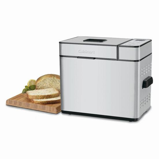 历史新低!Cuisinart 美膳雅 CBK-100 微电脑可编程 全自动面包机4.4折 89.18加元包邮!