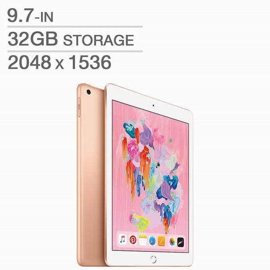 2018新款 Apple iPad 32GB 9.7寸平板电脑 359.99加元包邮!3色可选!