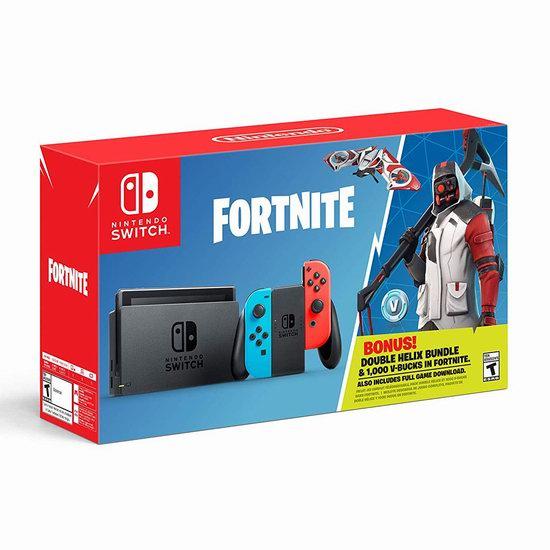 历史新低!Nintendo 任天堂 Switch 便携式游戏机+《堡垒之夜》套装 379.99加元包邮!