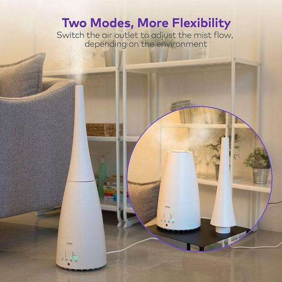 VAVA Floor 3升大容量 二合一 落地式/台式 超声波加湿器 26.74加元限量特卖并包邮!