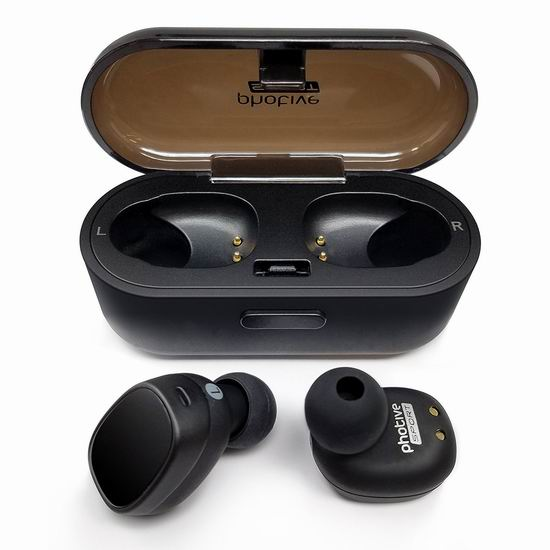 金盒头条:历史最低价!Photive TWS-01 真无线 蓝牙耳机6.3折 37.98加元包邮!