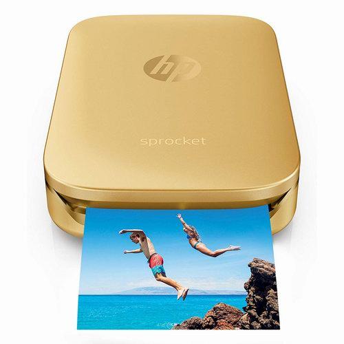 历史新低!HP 惠普 Sprocket 小印 便携式自拍伴侣 口袋照片打印机6.2折 98.75-99.99加元包邮!3色可选!