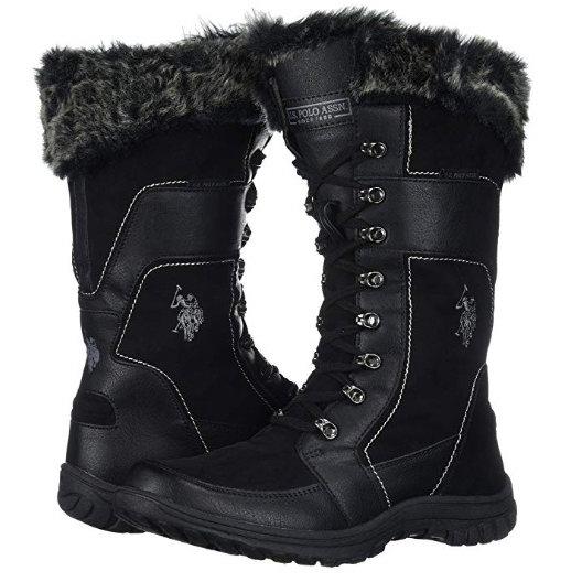 销量冠军!U.S. Polo Assn. 美国马术协会 Valley 时尚女式长靴 46.77加元起包邮!4色可选!