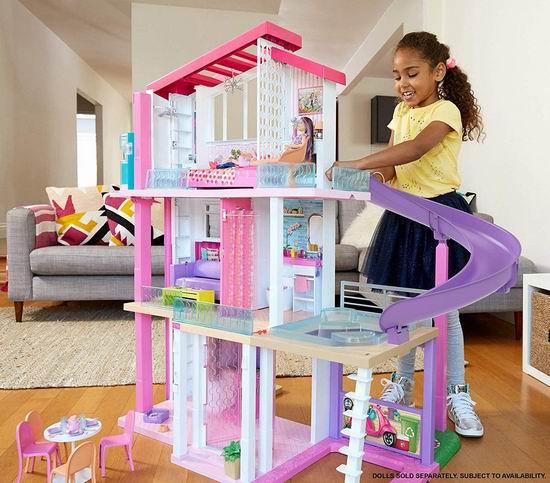 金盒头条:历史新低!Barbie DreamHouse 芭比的梦想玩具屋6.7折 199.99加元包邮!