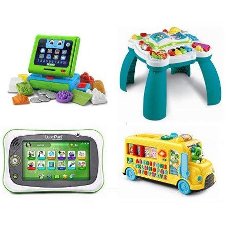 金盒头条:精选 Leapfrog 跳蛙 儿童学习平板电脑、配套软件、玩具桌、益智玩具等6.4折起!