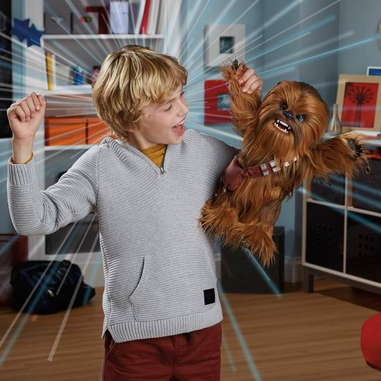 金盒头条:历史新低!Hasbro 孩之宝 Star Wars 星球大战 FurReal Ultimate Co-Pilot Chewie 楚巴卡 毛绒机器人6折 115.47加元包邮!