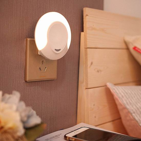 DIKAOU 双模式 暖白 LED光感应夜灯 8.49加元限量特卖!