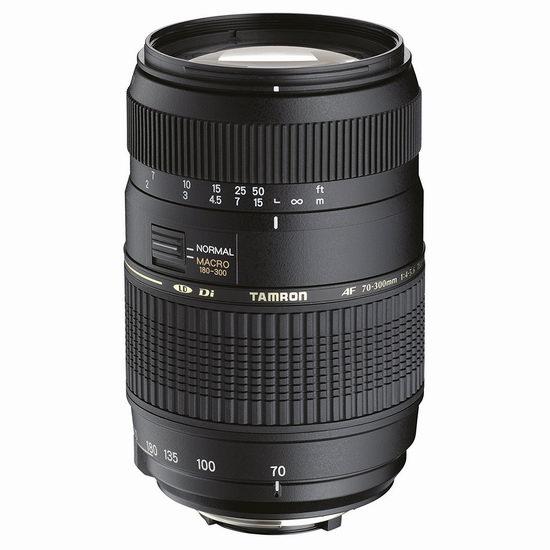 历史新低!Tamron 腾龙 A17NII AF 70-300mm f/4.0-5.6 Di LD 尼康卡口 长焦镜头5.9折 129.49加元包邮!