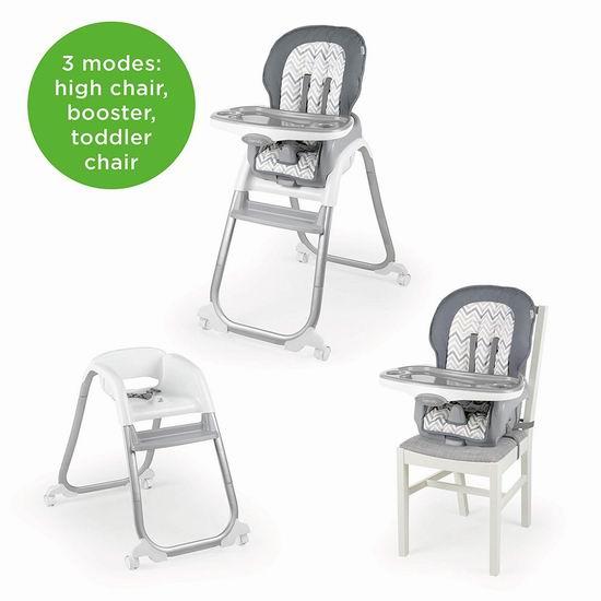 历史最低价!Ingenuity Trio Elite 3合1 豪华儿童高脚餐椅7折 89.87加元包邮!