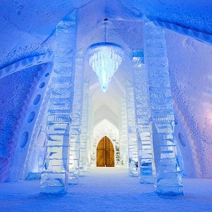 魁北克 Hôtel de Glace 冰雪酒店双人房住宿 3.7折!