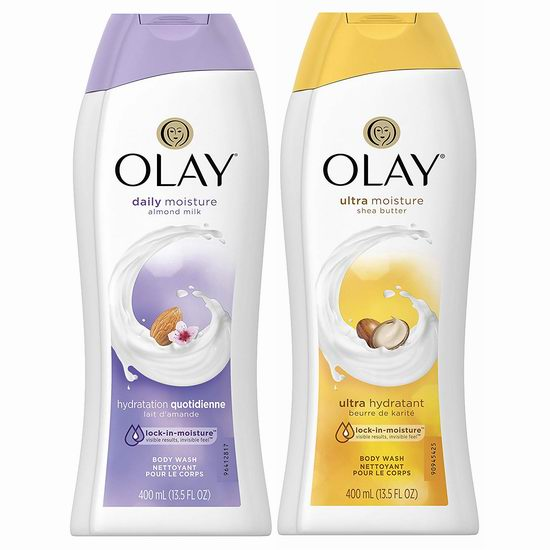 历史新低!Olay 玉兰油 超级锁水保湿 深层滋润沐浴露(400ml) 2.32加元!2款可选!